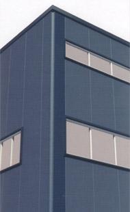 Угловая панель с вертикально расположенными угловой и стеновой панелями